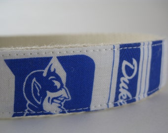Hemp dog collar - Duke Blue Devils