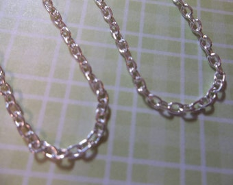 Thin Delicate Cable 2 X 3mm Chain in Silver - 72 inches