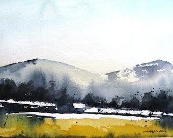 Upper Meadow - Original Watercolor Painting