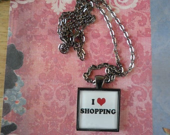 I Love Shopping Necklace
