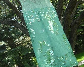 Pistachio Mint Lace dress with sequin applique accents  Spring Summer 2013