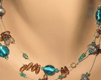 Chico Glass Bead Necklace