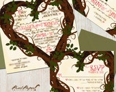 Weddig Invitation Suite: (Heart, Twisted Branches, Tree Branches, Storybook, Fairytale) Storybook Love DIGITAL