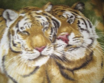 Tigers with Gold Handmade Blanket - Ready to Ship Now