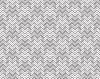 Gray and White Chevron Flannel, 1 Yard