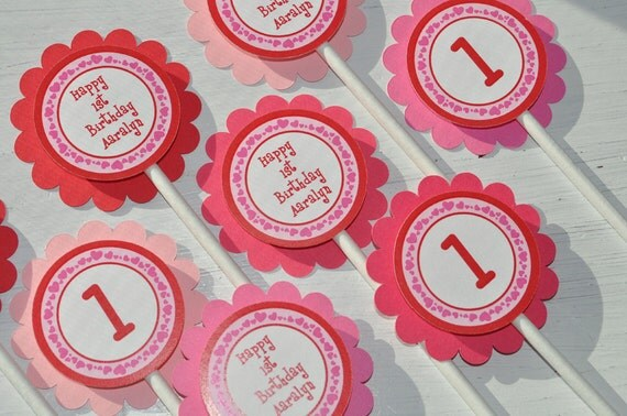 valentine birthday cupcake toppers valentine's day, Ideas