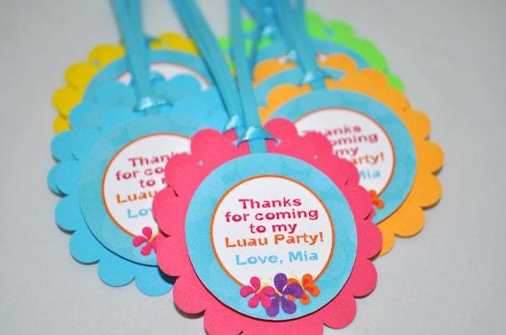 Il_570xn & Luau Birthday Favor Tags Hawaiian Luau Birthday Decorations Party ...