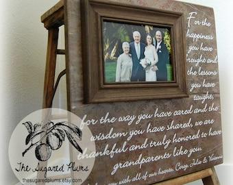 Grandparents Thank You Gift, Wedding, Nana, Papa, Grandma, Grandpa, Grandmother, Grandfather 16x16