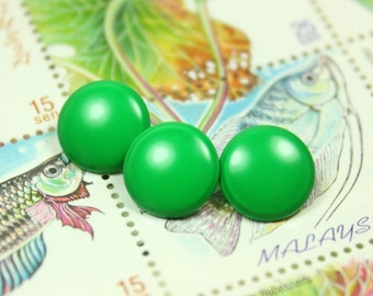 Metal Buttons - Peaceful Green Small Round Shank Metal Buttons. 0.39 inch, 10 pcs