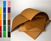 "8 Medium sheets 9"" x 5 3/4"" corrugated cardboard for crafting"