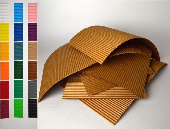 8 Medium Sheets 9 X 5 3 4 Corrugated Cardboard For
