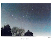 Night Lights Photo Story Card