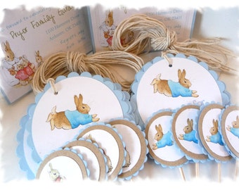 PETER RABBIT Favor Tags - 5 dozen