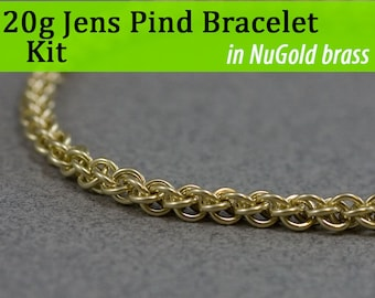 20g Jens Pind Bracelet Chainmaille Kit in NuGold Brass