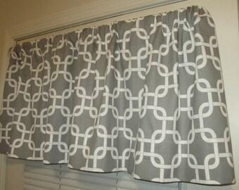 SALE SALE  Window Curtain-Valance Premier Prints Grey Gotcha
