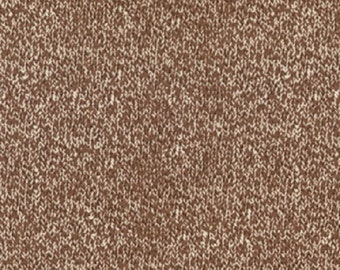 Funky Monkey Sock Monkey Brown Texture PRINT  1/2 yard Moda Quilt Fabric