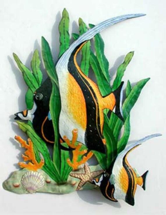 Painted Fish Metal Wall Art
