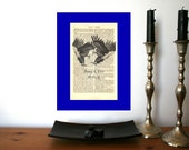 Irresistible Love Eagles Wedding Engagement Valentine Anniversary Gift Personalized Art Print on Antique 1896 Dictionary Book Page