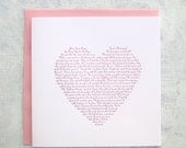 Letterpress Card - Byron, Percy & Shelley Poetry Heart