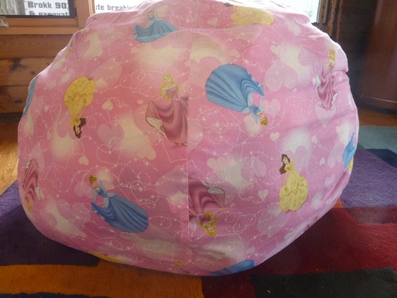 Pink Princess Bean Bag Chair Cover Cinderella By