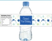 Under the Sea Party Personalized Water Bottle Labels -- Set of 15