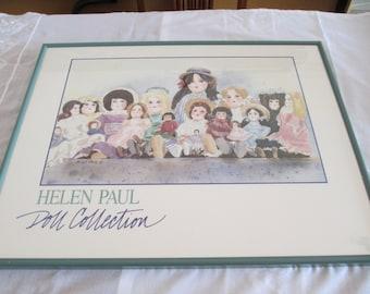 Print Doll Poster Professionally Framed c.1980's By Gatormom13