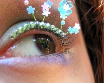 Forget-me-Not Eyelash Jewelry, floral false eyelashes for summer