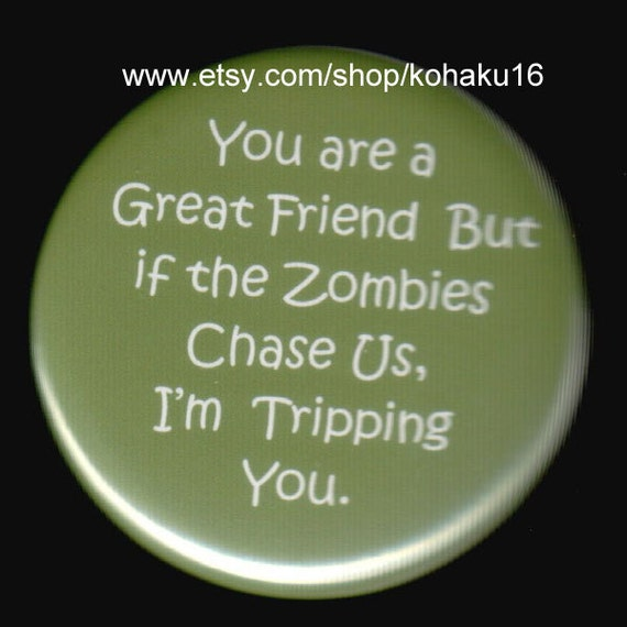 Friendship and Zombies Button