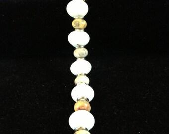 White Jade with Jasper stones