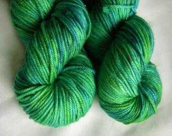 Superwash Merino Silk Stellina Sparkly DK - Going in Circles
