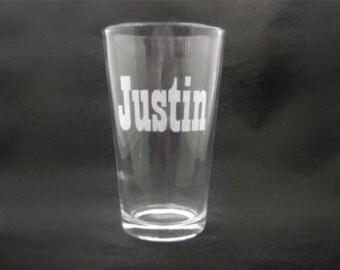 7 Custom Engraved Pint Glasses for Groomsmen