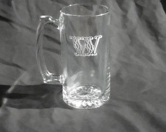 11 Custom Engraved Monogrammed Groomsmen Beer Mugs