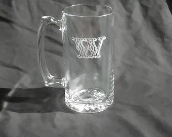 7 Custom Engraved Monogrammed Groomsmen Beer Mugs