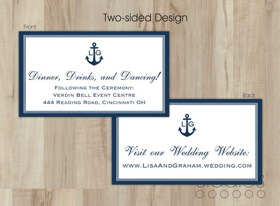 diy nautical wedding invitation small enclosure by lestudios