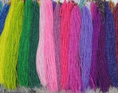 44 str -22 colors-tiny 2mm round Jade seed beads in added green pink purple blue yellow gray