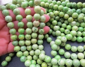 5 str --Antique Green Turquoise Howlite 10mm Round Ball beads