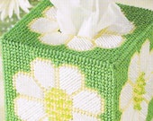 FRESH as a DAISY - Tissue Topper Box Cover - Plastic Canvas PATTERN
