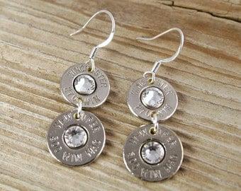 Bullet Earrings / Double Barrel Nickel Bullet Earrings WIN-270-300-DBE / Nickel Earrings / Nickel Bullet Earrings / Shotgun Shell Earrings