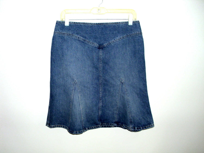 vintage blue denim skirt marc gored by