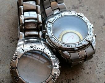 Wrist watch bracelets with empty cases -- set of 2 -- D8