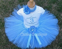 Princess Cinderella Birthday Outfit Set With Personalized Shirt- All Sizes 6 9 12 18 24 Months 2T 3T 4T ----Birthday, Photo, Dress Up