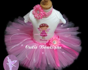1st 2nd 3rd -- Pixie Fairy Outfit Set With Personalized Shirt--- All Sizes 6 9 12 18 24 Months 2T 3T 4T -- Birthday, Photo, Holidays