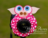 Lens Bling - Polka Dot Pig with Squeaker- Ready to Ship