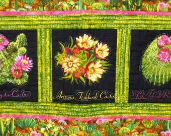 Cacti in Bloom Quilted Wallhanging