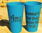SET of TWO - Personalized Bachelorette Party Cups
