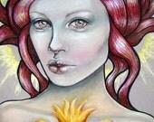 Brighid Celtic goddess Pagan 8x10 fine art print