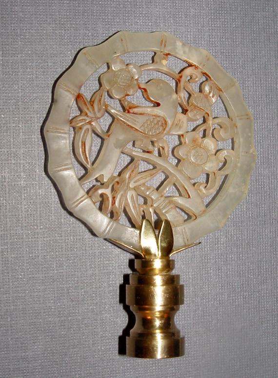 hand carved bird jade lamp finial by landidesigns on etsy. Black Bedroom Furniture Sets. Home Design Ideas
