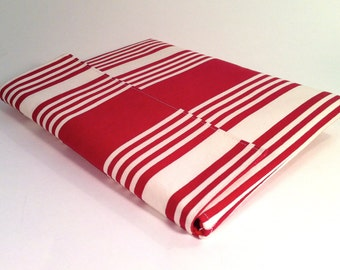 iPad Case, iPad Cover, iPad Sleeve in red and cream stripes