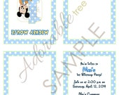 Baby Mickey Mouse Invitation 1st Birthday - Custom PDF FILE - French Fold Do It Yourself (DIY) Digital by Adorable Tree