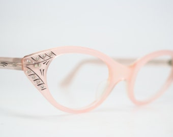 Pink Rhinestone cat eye glasses rhinestone cateye frames